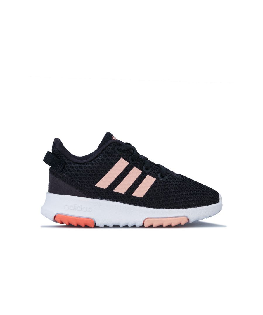 Image for Girl's adidas Infant Racer TR Trainers in black pink