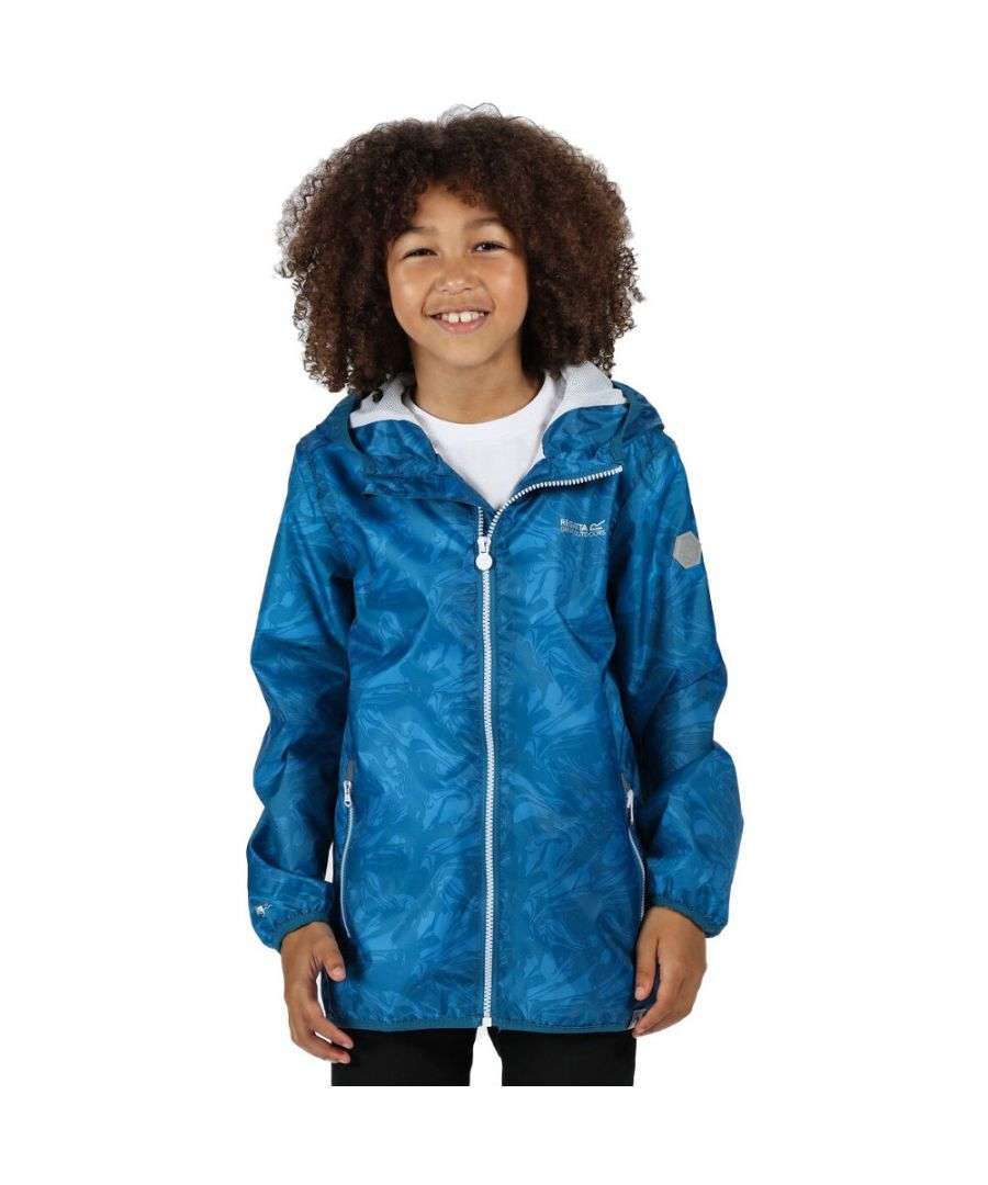 Image for Regatta Boys & Girls Printed Lever Waterproof Breathable Jacket