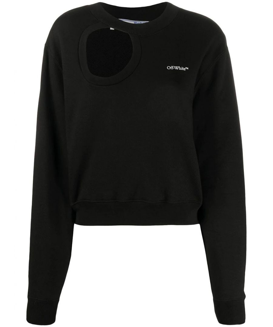 Image for OFF-WHITE WOMEN'S OWBA057S20FLE0011045 BLACK COTTON SWEATSHIRT