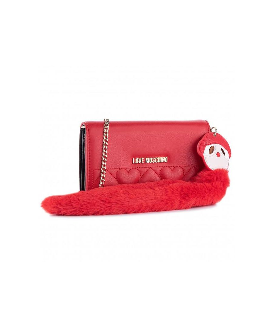 Image for Love Moschino Quilted Wallet with Charm in Red