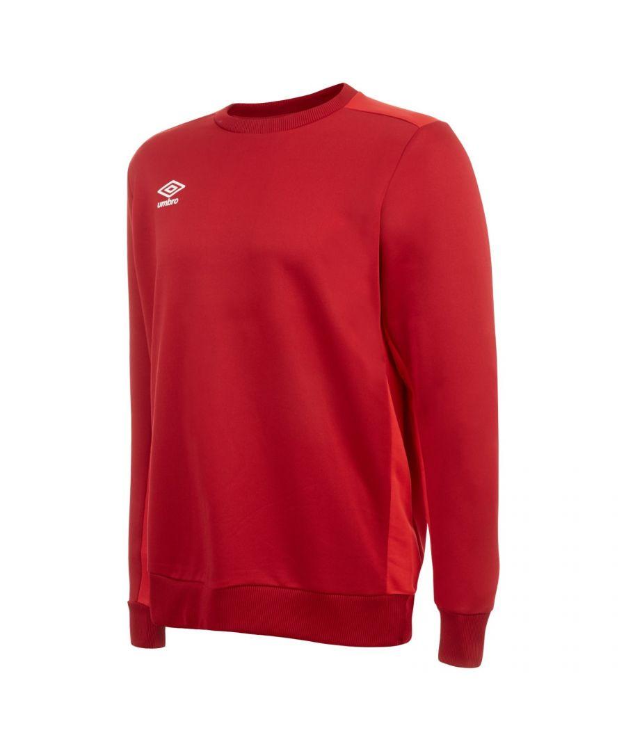 Image for Umbro Boys Fleece Training Sweatshirt (Vermillion/Jester Red)