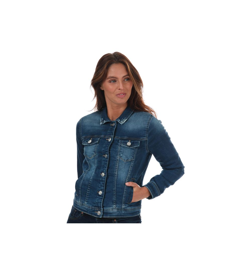 Image for Women's Only Tia Life Denim Jacket in Dark Blue