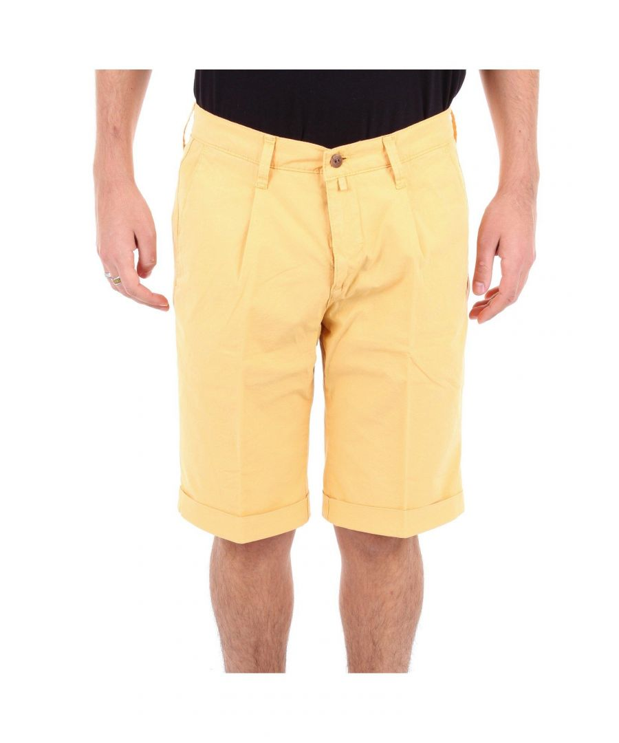 Image for BRIGLIA 1949 MEN'S BG1013715MOSTARDA YELLOW COTTON SHORTS