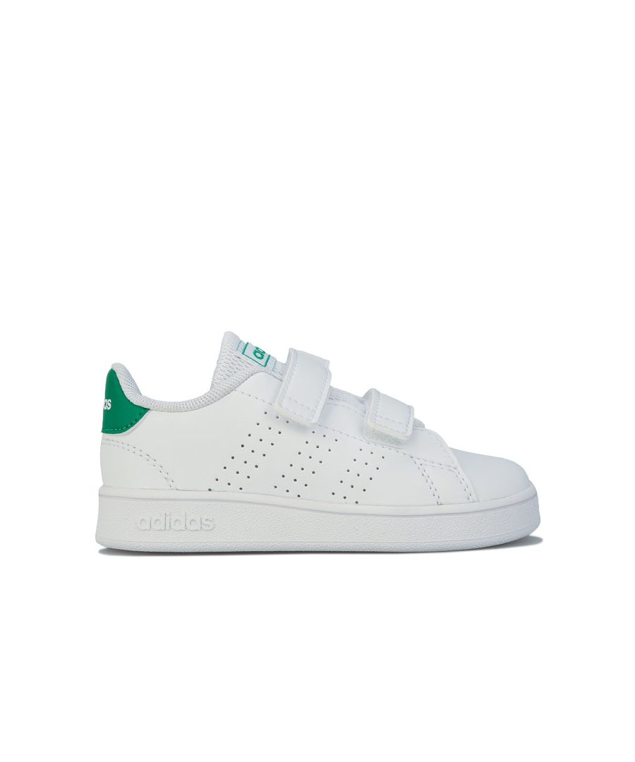 Image for Boy's adidas Infant Advantage Trainers in White