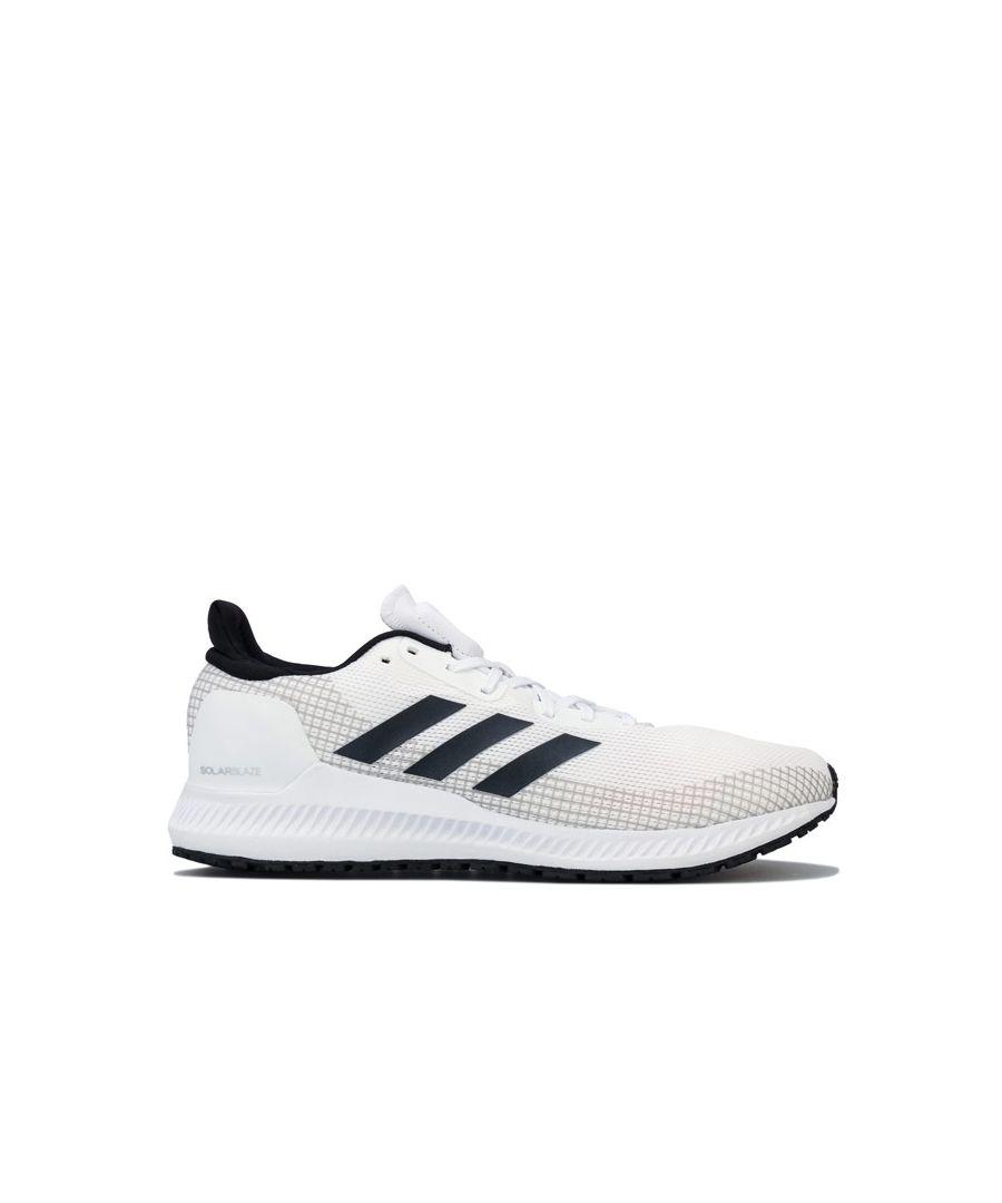 Image for Men's adidas Solar Blaze Trainers in Black-White