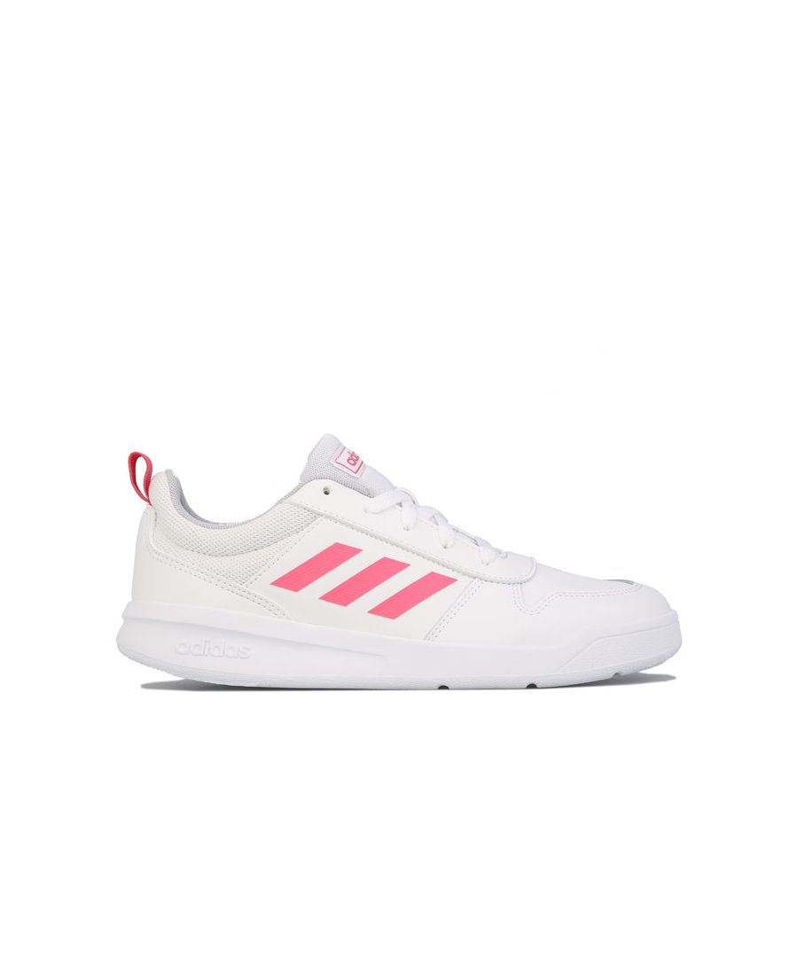 Image for Girl's adidas Junior Tensaur Trainers White pink UK 4in White pink