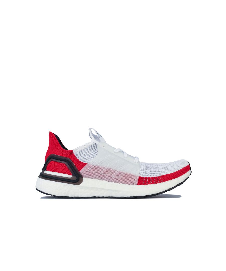 Image for Men's adidas Ultraboost 19 Running Shoes in White red