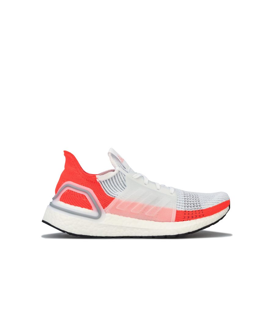 Image for Men's adidas Ultraboost 19 Running Shoes in white orange
