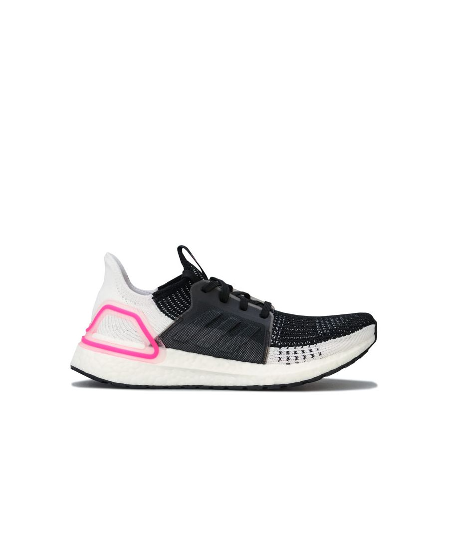 Image for Women's adidas Ultraboost 19 Running Shoes in Black-White