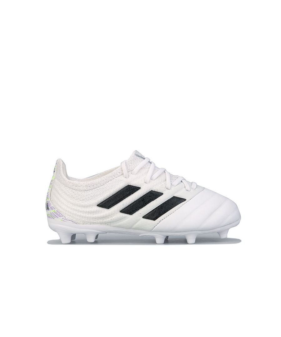 Image for Boys' adidas Junior Copa 20.1 FG Football Boots in White Black