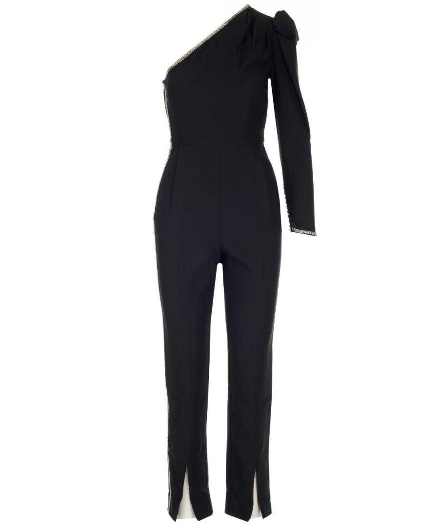 Image for SELF-PORTRAIT WOMEN'S SP23050BLACK BLACK POLYESTER JUMPSUIT