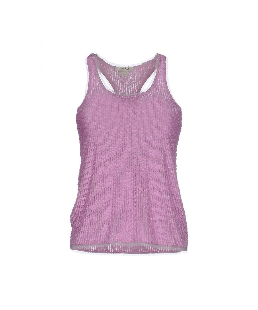 Image for Pinko Tulle Sequinned Vest Top