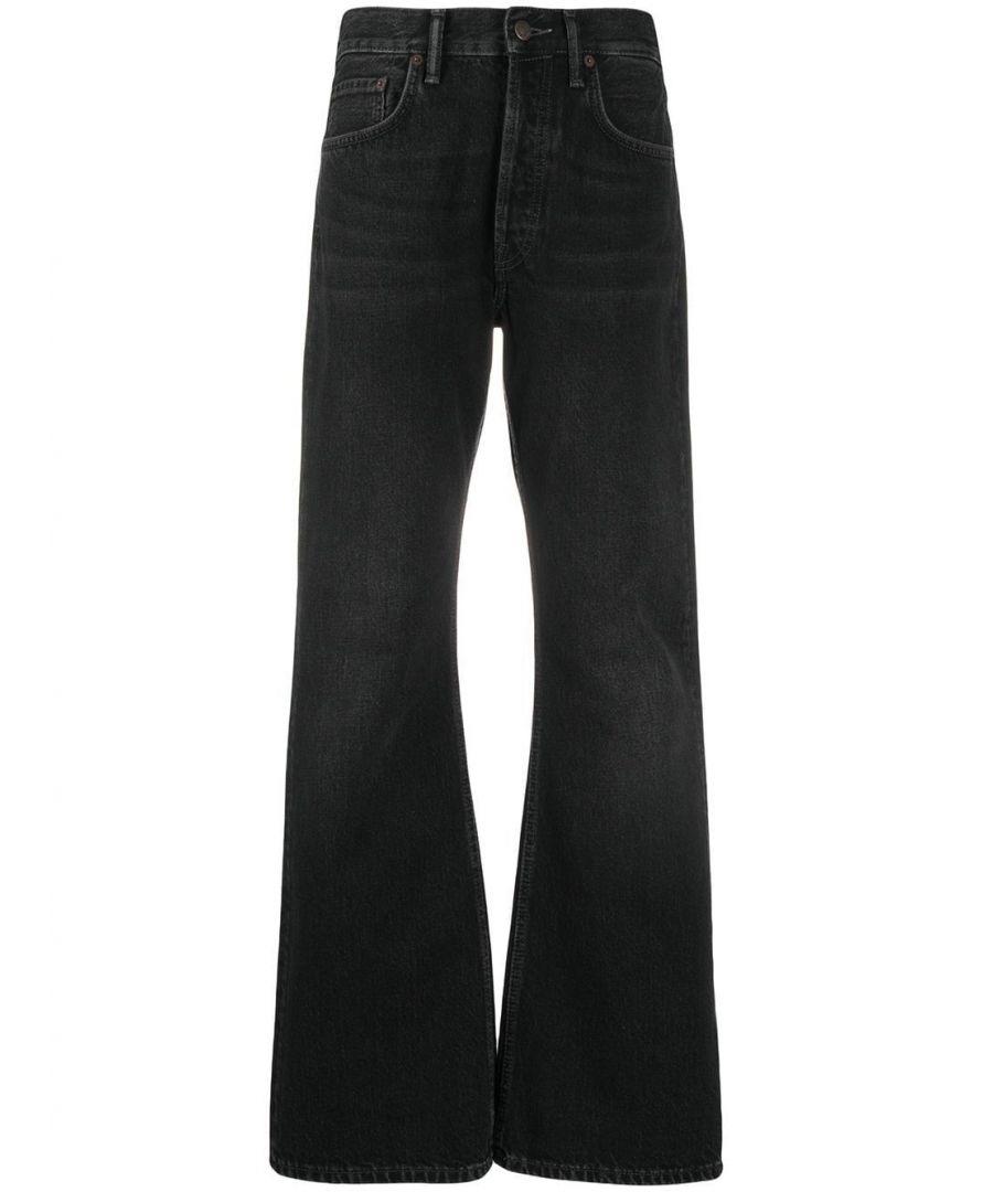 Image for ACNE STUDIOS WOMEN'S A00129BLACK BLACK COTTON JEANS