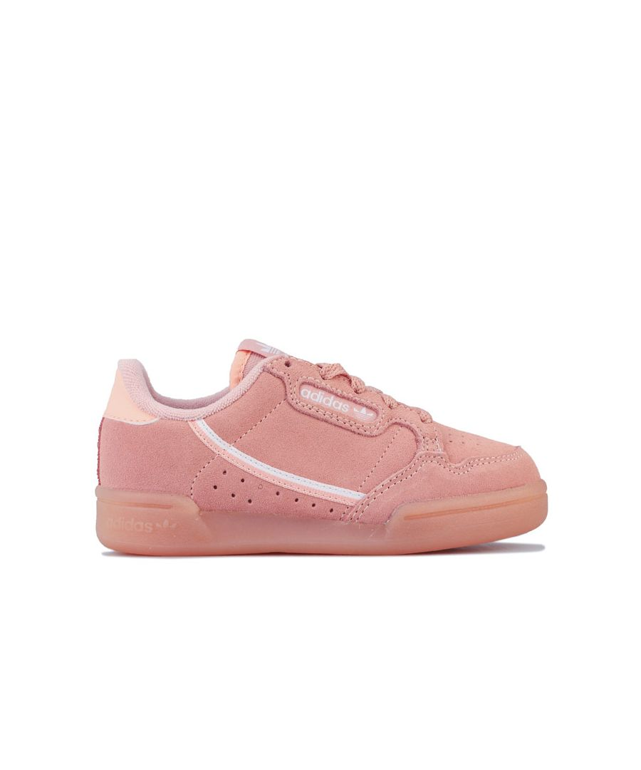 Image for Girl's adidas Originals Children Continental 80 Trainers in Pink