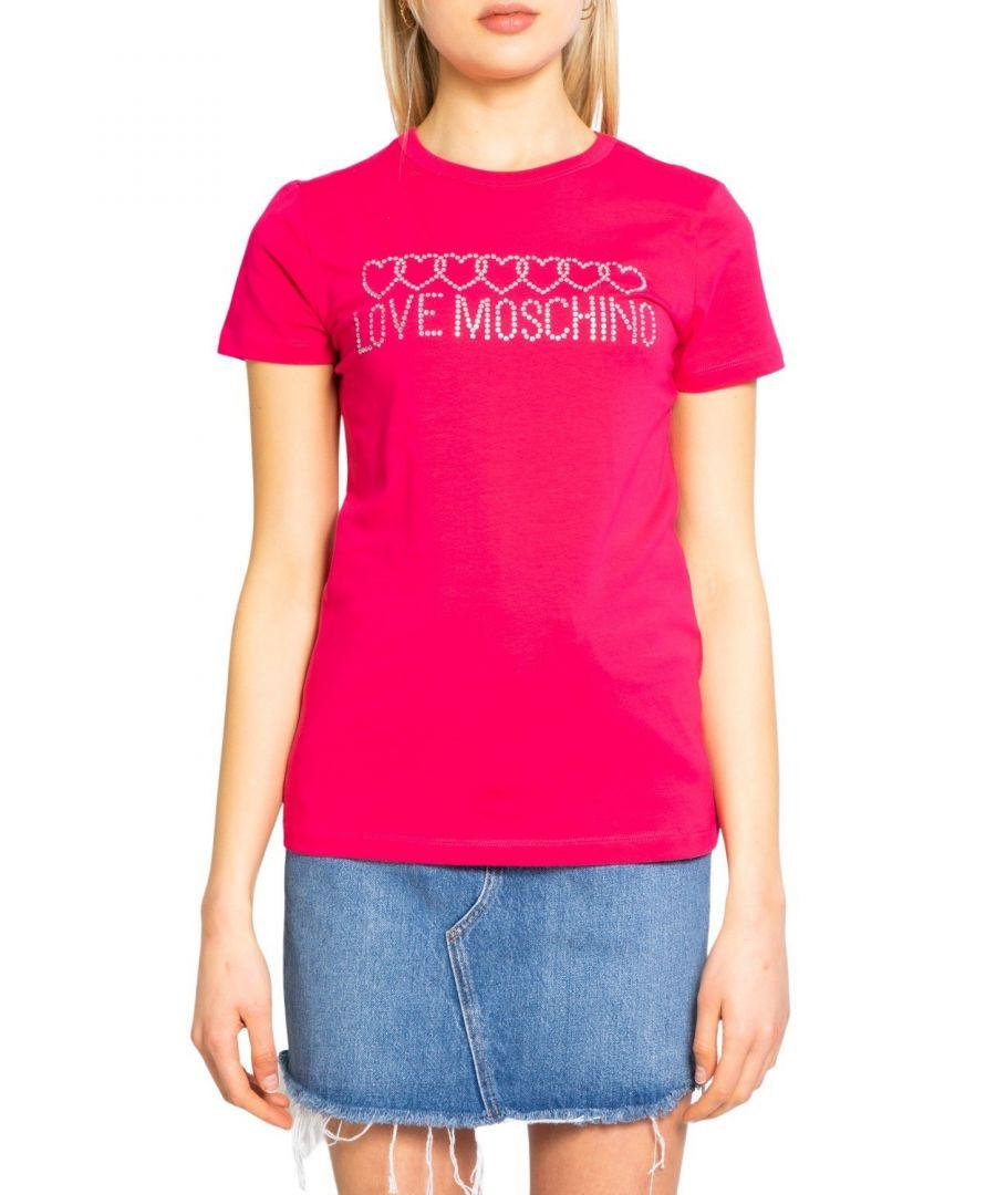 Image for Love Moschino Women's T-Shirt in Fuchsia