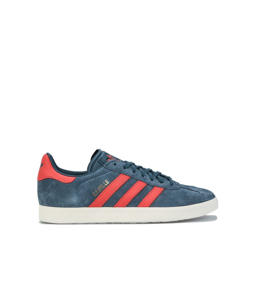 Image for adidas Originals Gazelle Trainers in Dark Blue