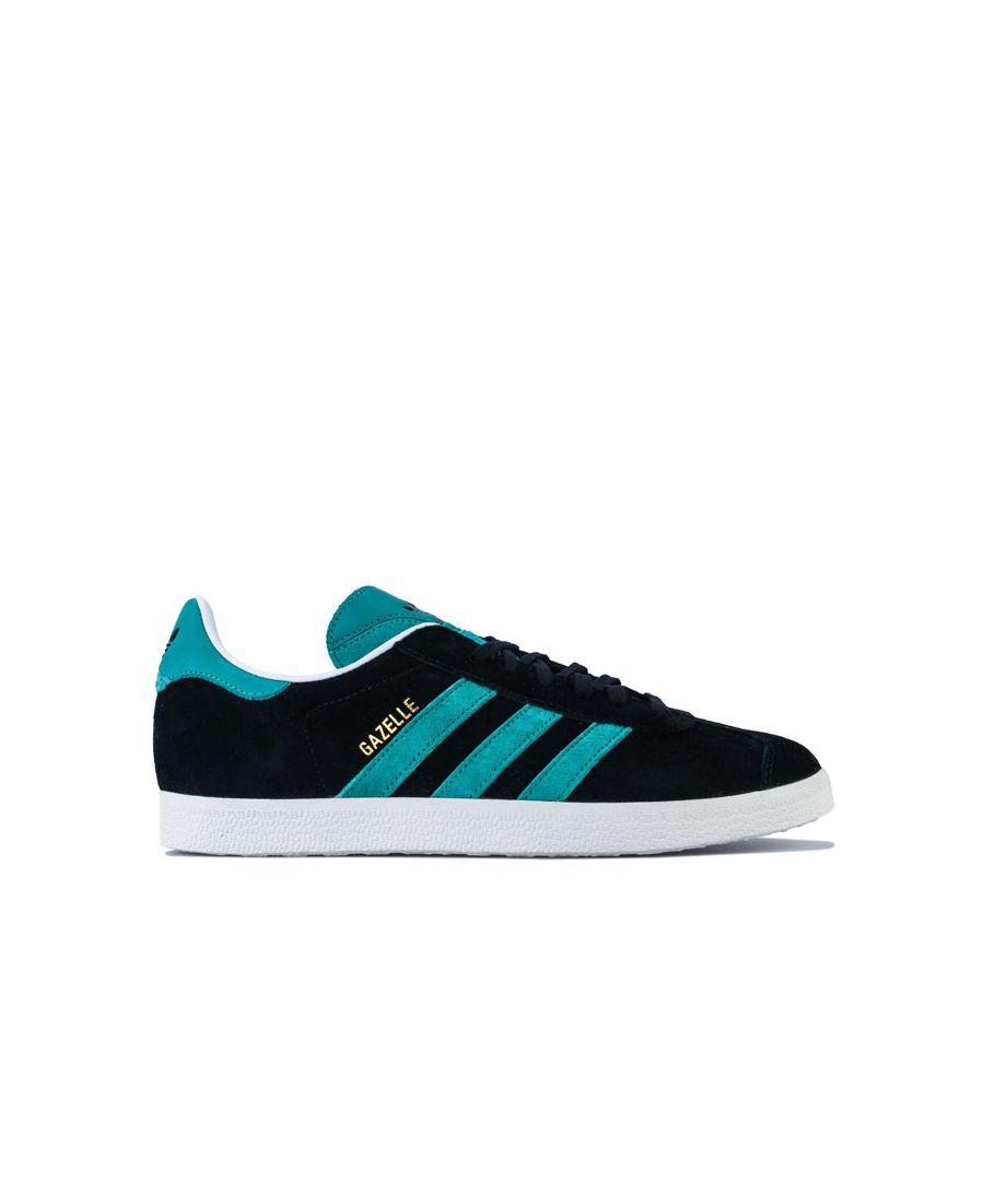 Image for adidas Originals Gazelle Trainers in Black Green