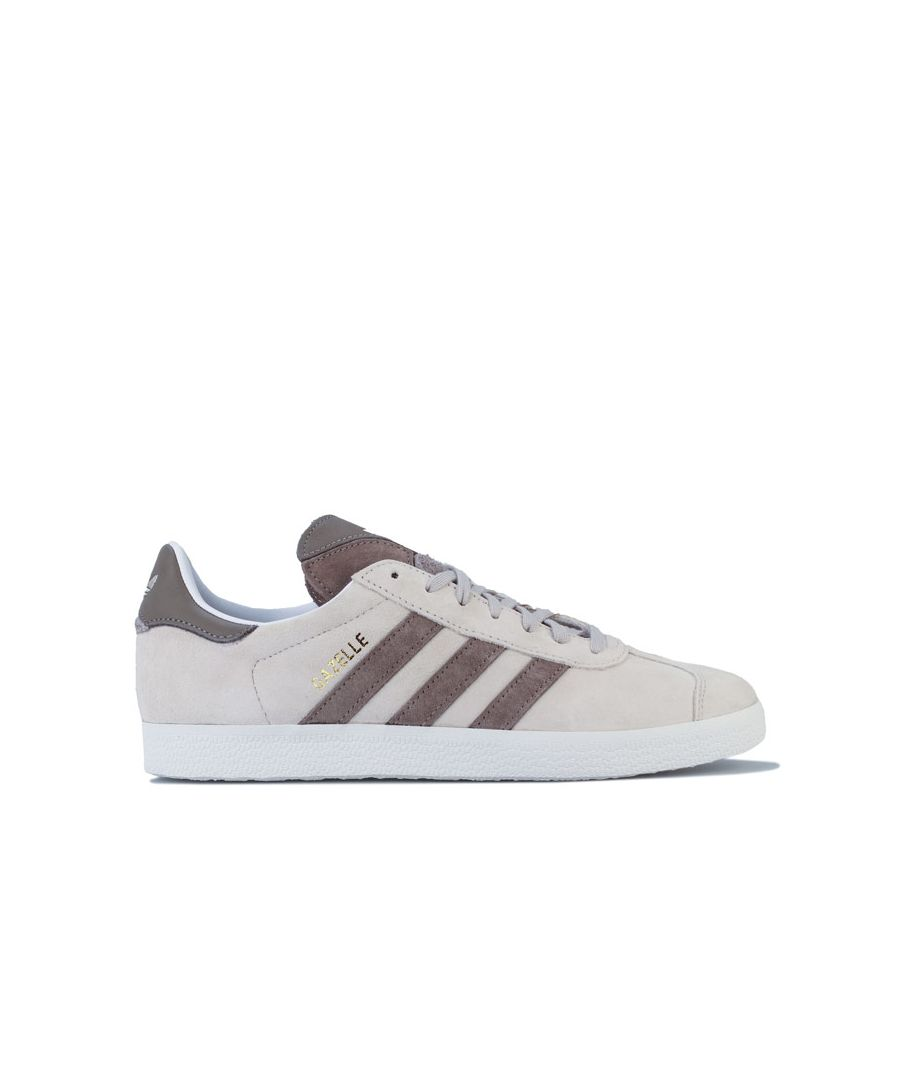 Image for adidas Originals Gazelle Trainers in Off White