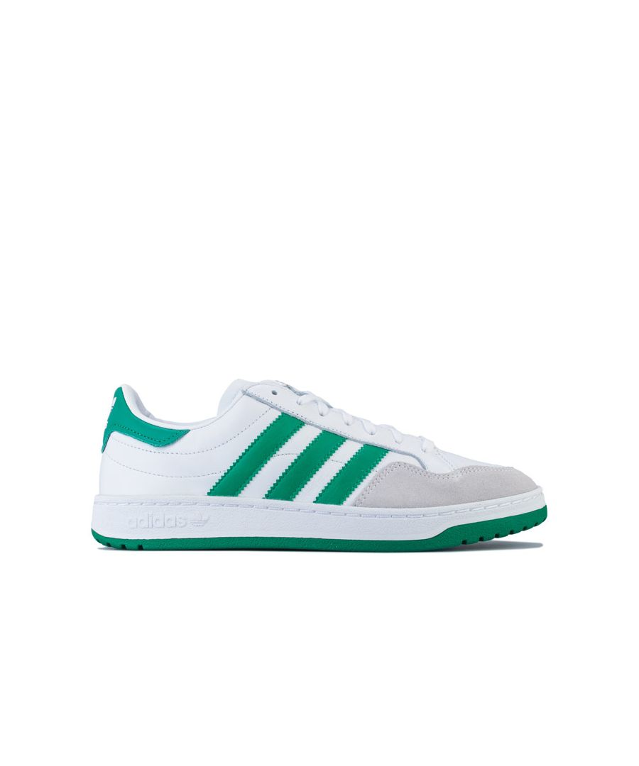 Image for Men's adidas Originals Team Court Trainers in White Green