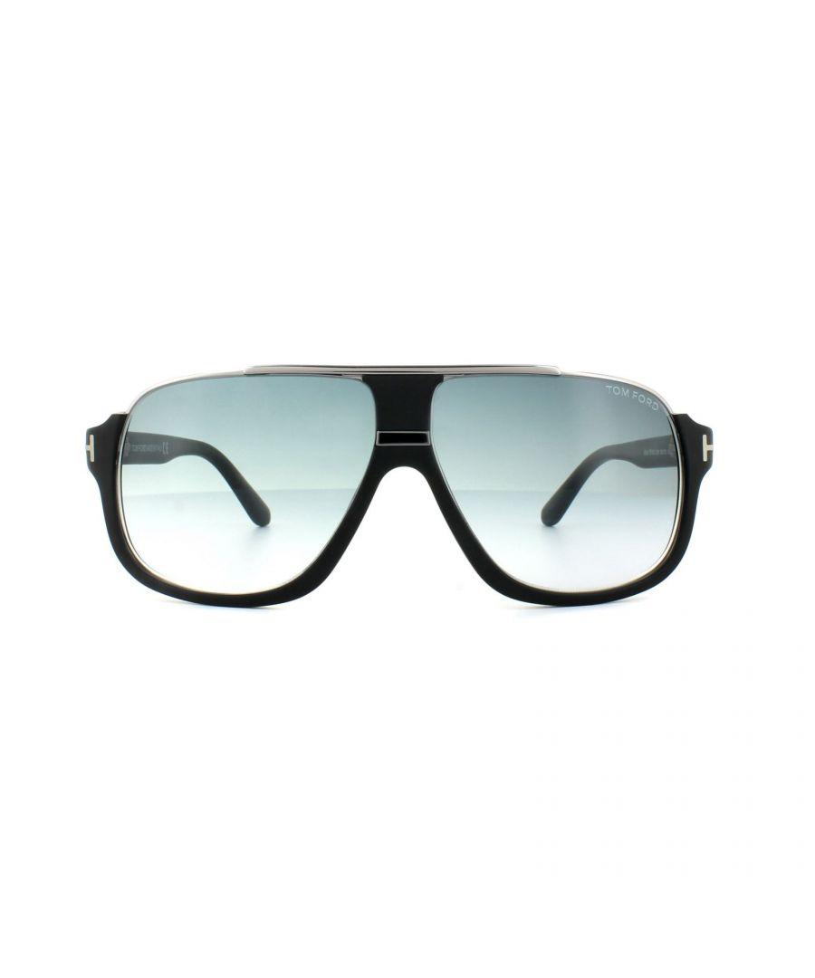 Image for Tom Ford Sunglasses 0335 Elliot 02W Matt Black Blue Gradient
