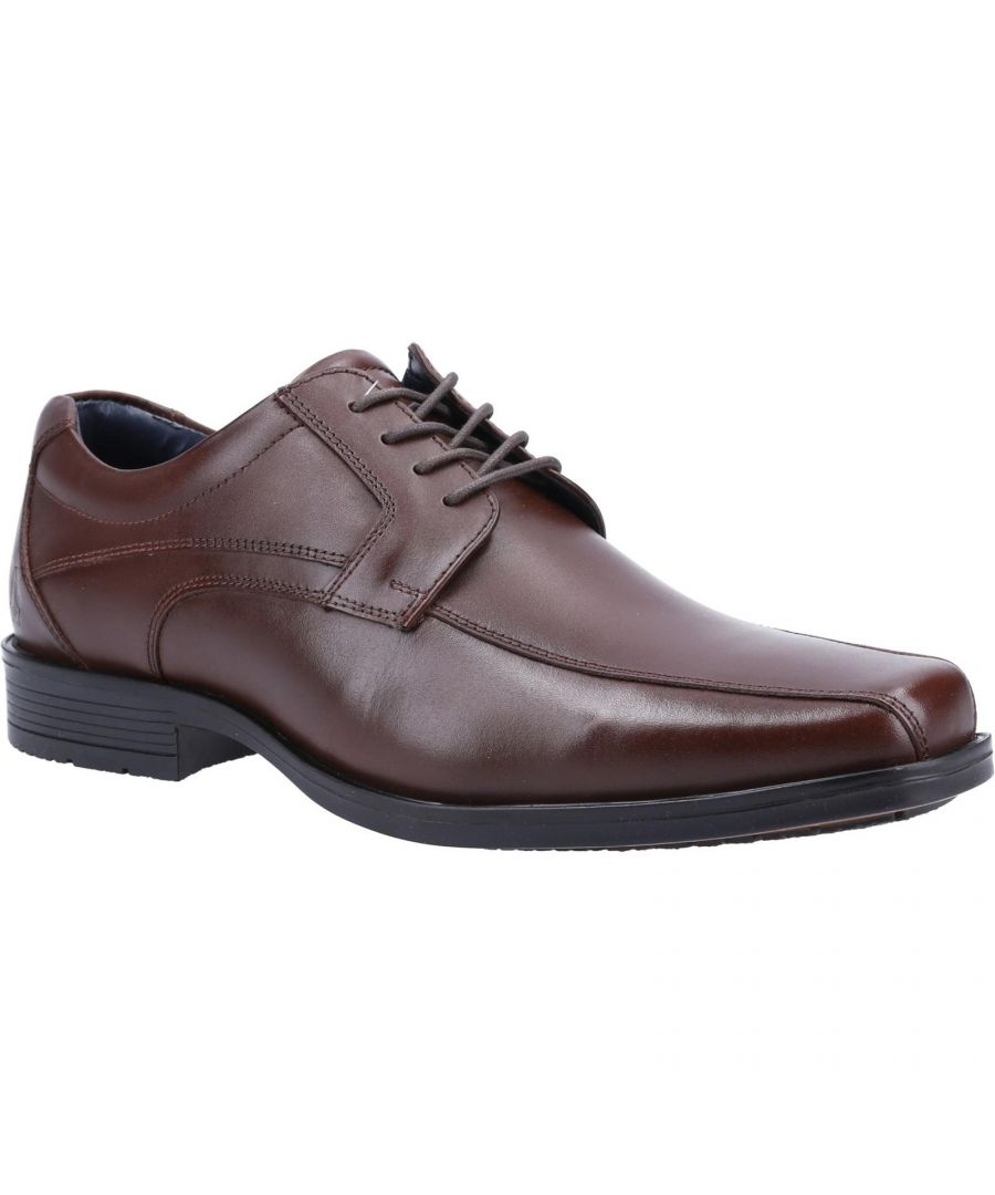 Image for Hush Puppies Mens Brandon Leather Shoes (Chocolate Brown)