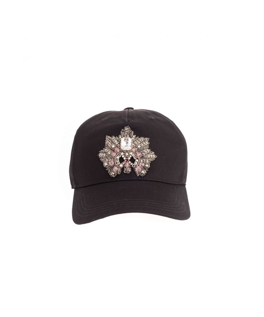 Image for ALEXANDER MCQUEEN MEN'S 6099214105Q1000 BLACK COTTON HAT