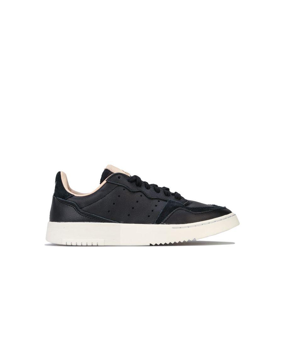 Image for Boy's adidas Originals Junior Supercourt Trainers in Black