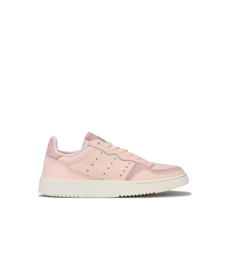 Image for Girl's adidas Originals Junior Supercourt Trainers in Pink