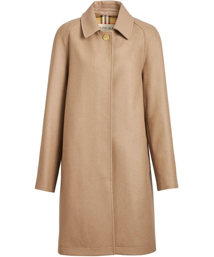 Image for BURBERRY WOMEN'S 8002882 BEIGE CASHMERE COAT