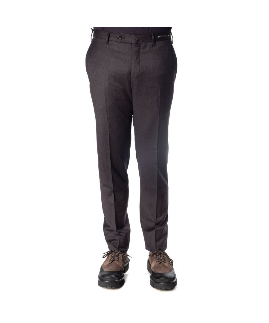 Image for PT01 MEN'S DF01Z00DLXTR200260 BLACK WOOL PANTS