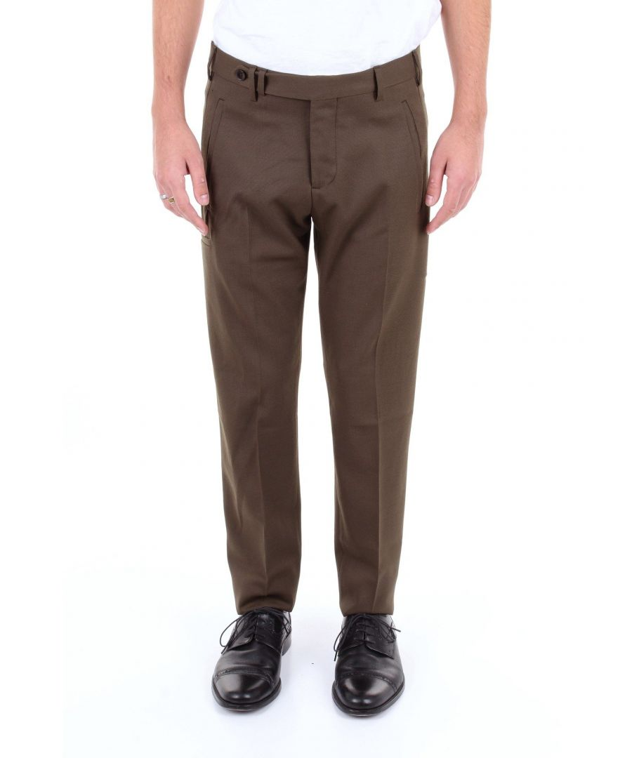 Image for BRIGLIA 1949 MEN'S 3990VERDEMILITARE GREEN POLYESTER PANTS