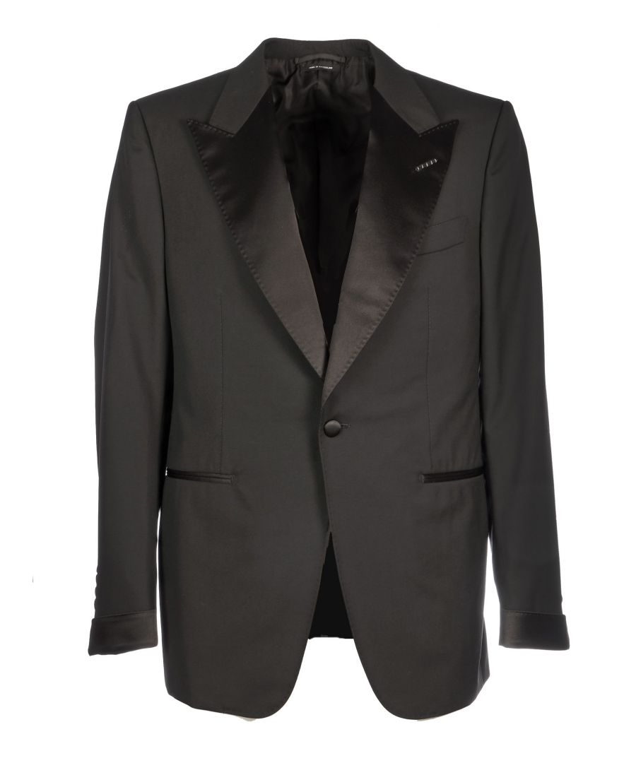 Image for TOM FORD MEN'S 622R1221S146R12 BLACK WOOL SUIT
