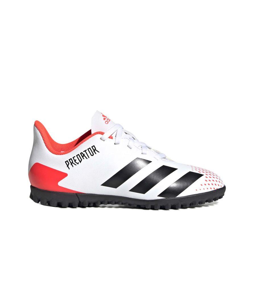 Image for adidas Predator 20.4 Kids Turf Trainer White/Black/Red - UK 11.5