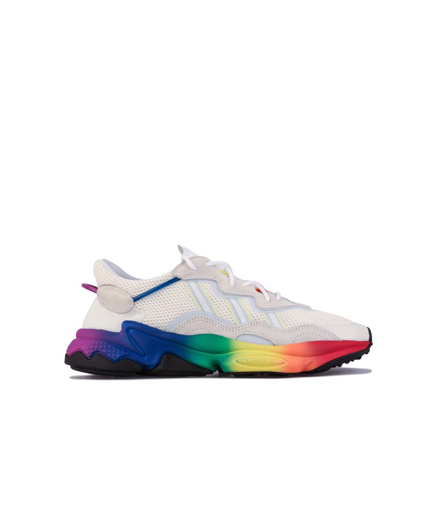 Image for Men's adidas Originals Ozweego Pride Trainers in Off White