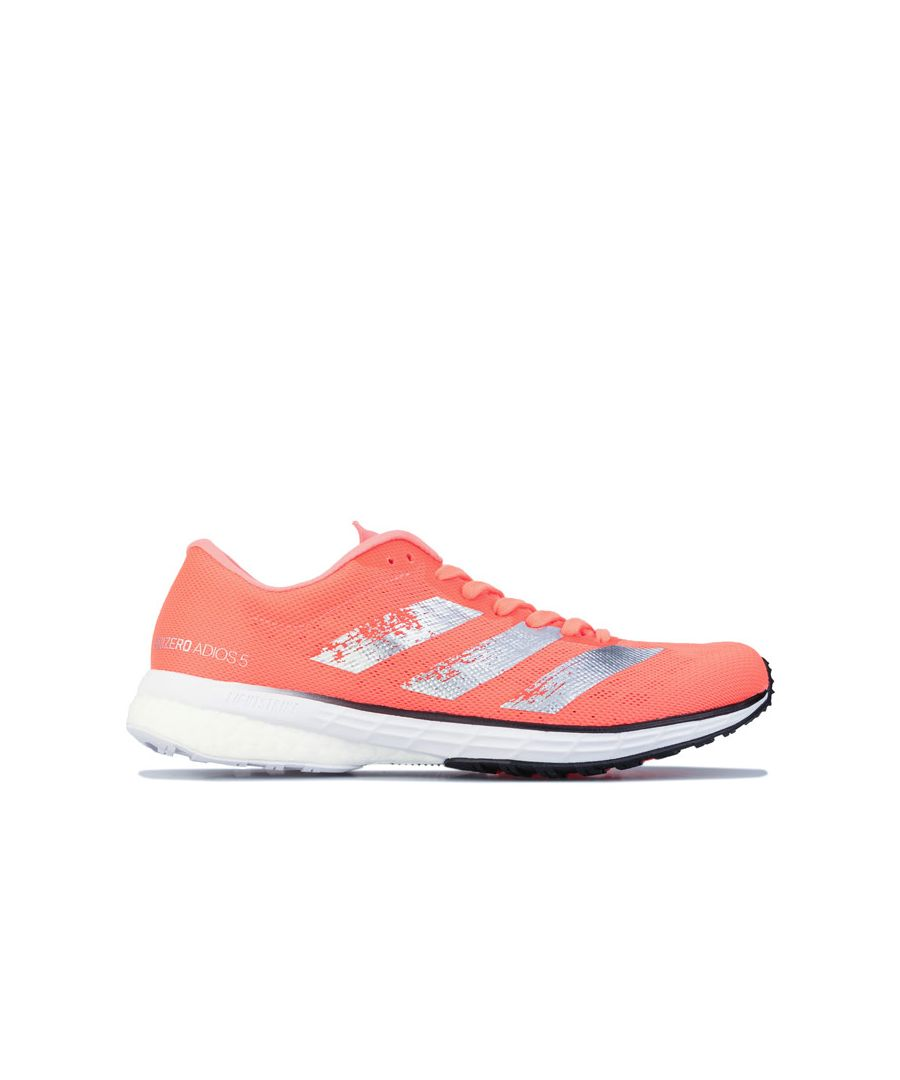 Image for Women's adidas Adizero Adios 5 Running Shoes in Coral
