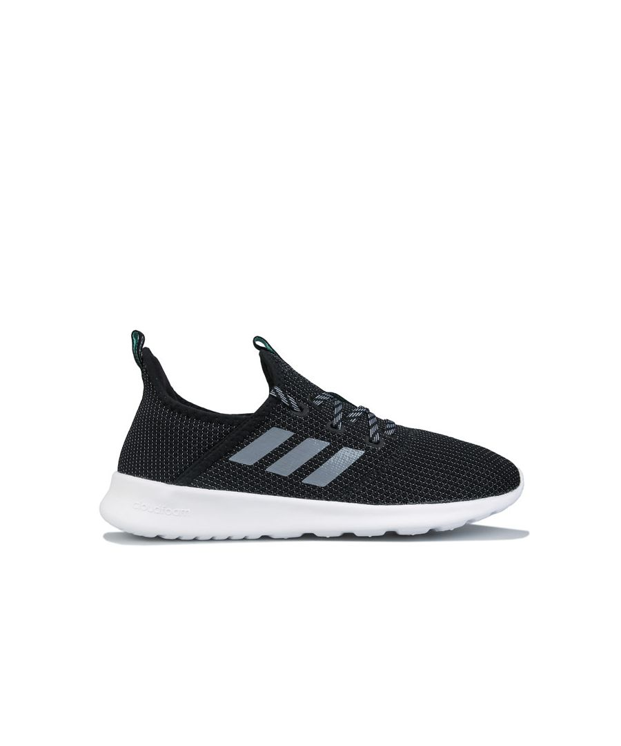 Image for Women's adidas Cloudfoam Pure Trainers Black Grey UK 4in Black Grey