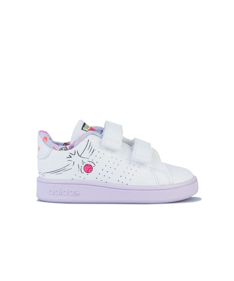 Image for Girl's adidas Infant Advantage Trainers in White
