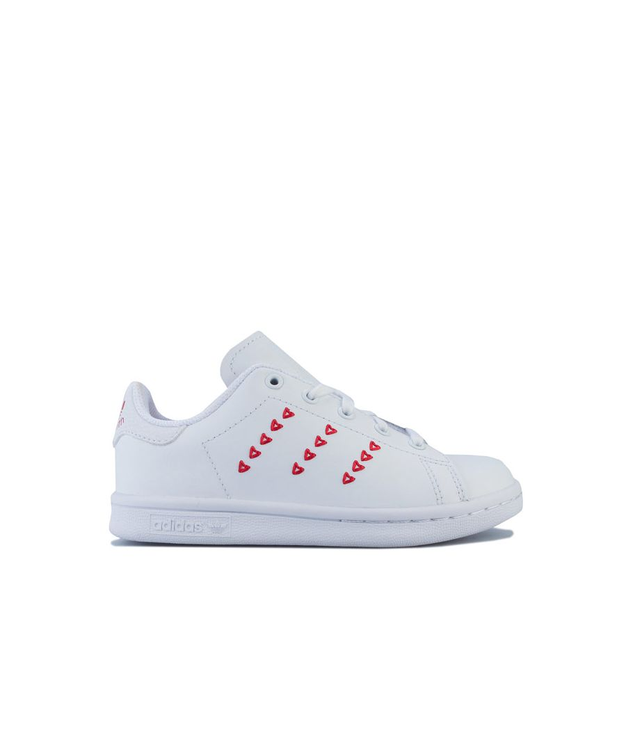 Image for Girl's adidas Originals Children Stan Smith Trainers in White red