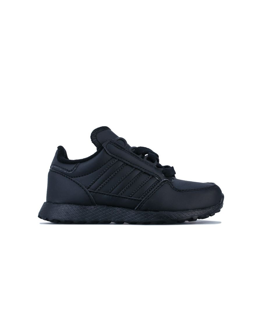 Image for Boy's adidas Originals Childrens Forest Grove Trainers in Black