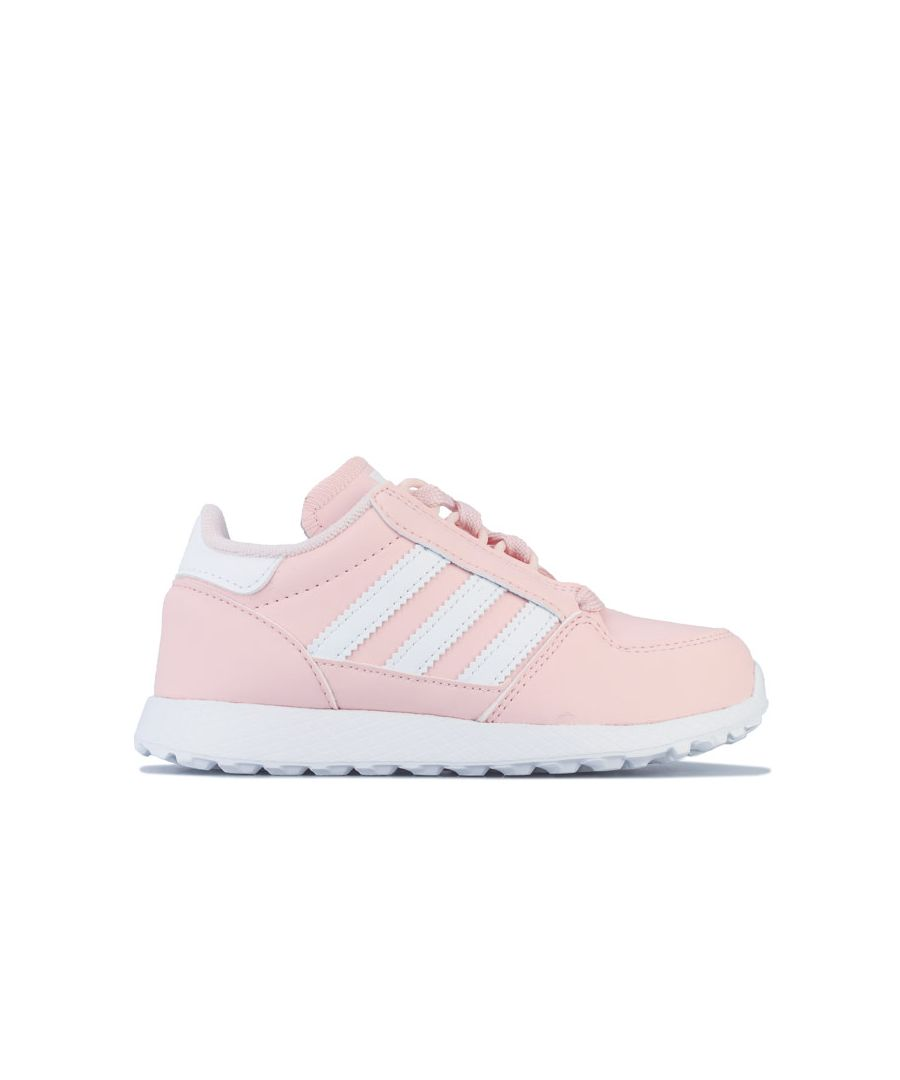 Image for Girl's adidas Originals Children Forest Grove Trainers in Pink white