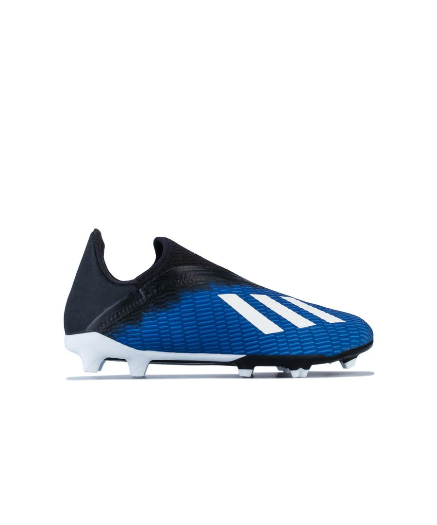 Image for Boy's adidas Junior X 19.3 FG Football Boots in Royal Blue