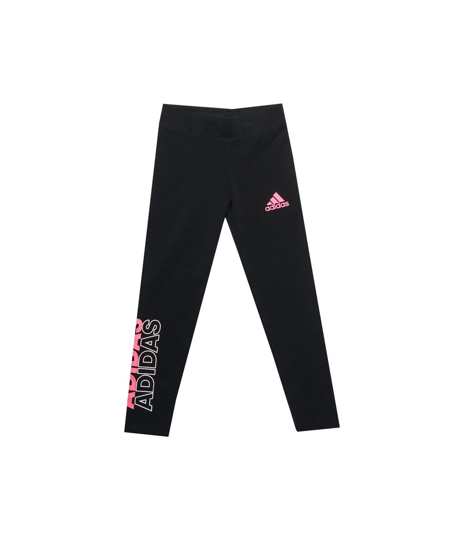 Image for Girl's adidas Infant Cotton Tight Leggings in Black