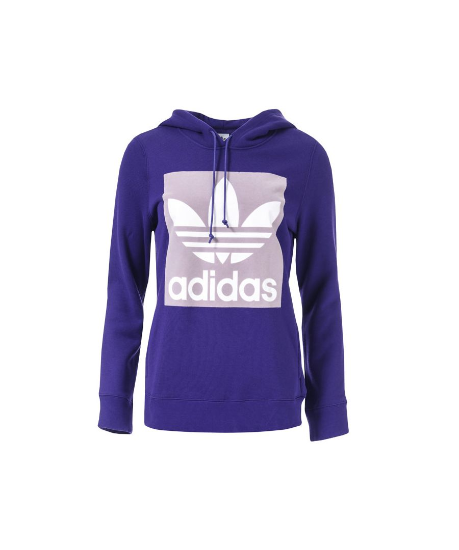 Image for Women's adidas Originals Trefoil Hoody in Purple