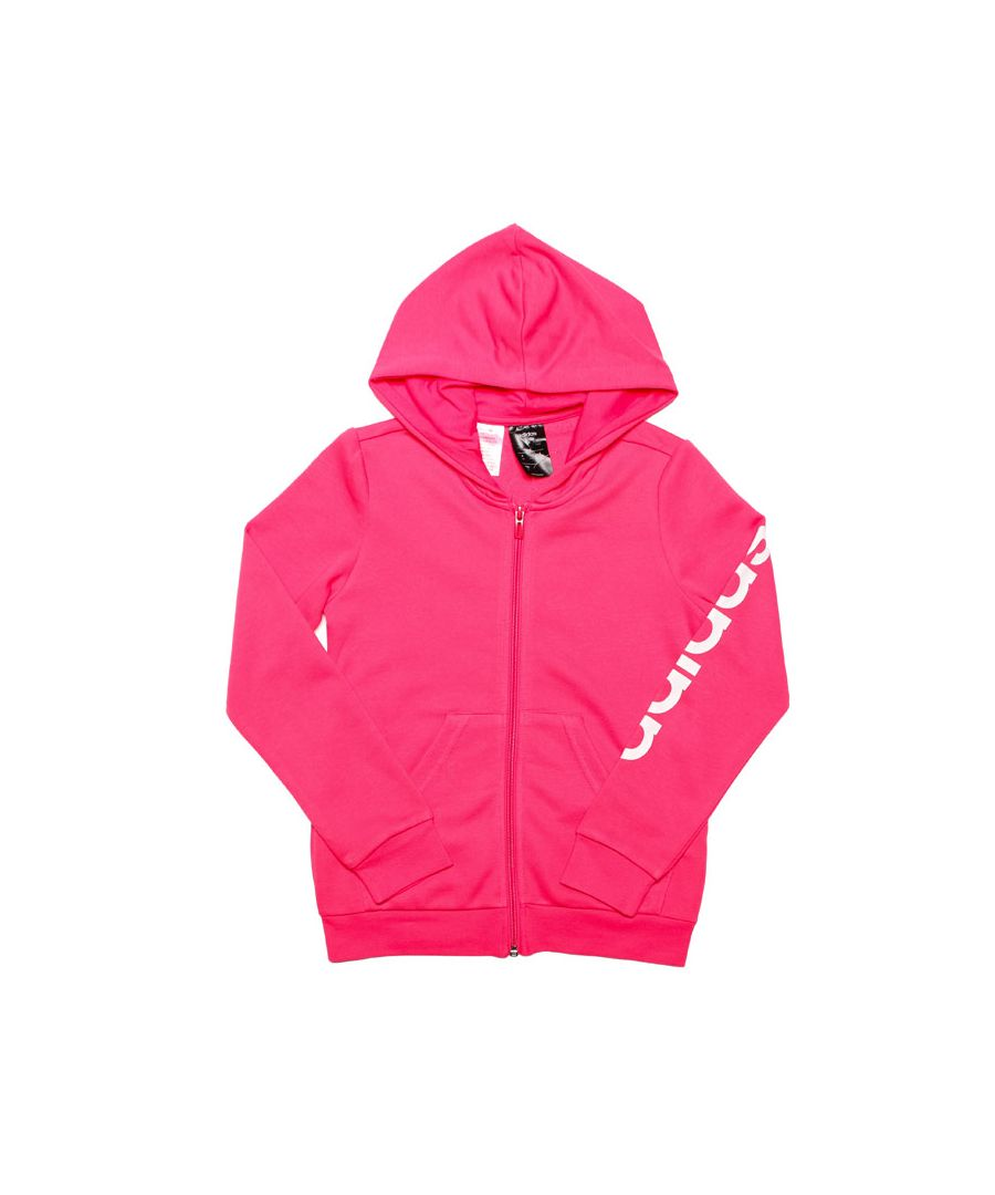 Image for Girl's adidas Junior Linear Zip Hoody in Pink