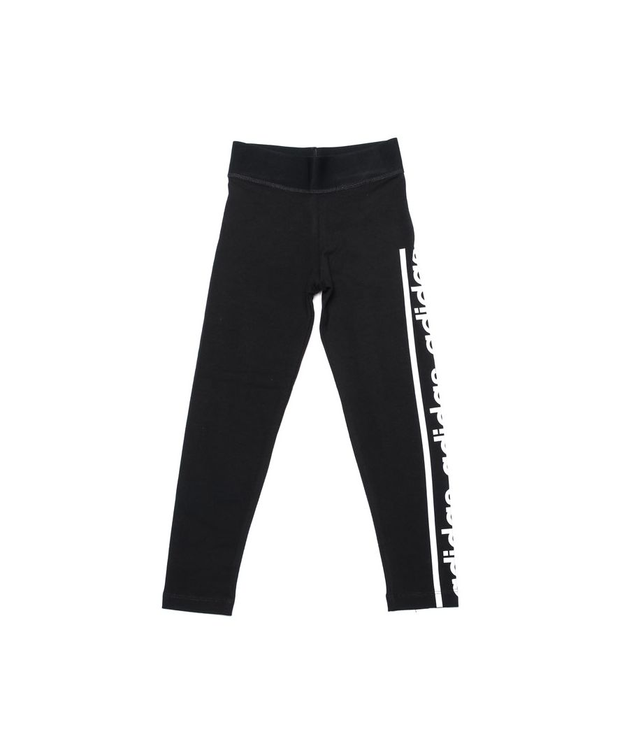 Image for Girl's adidas Junior Comfort Leggings in Black-White