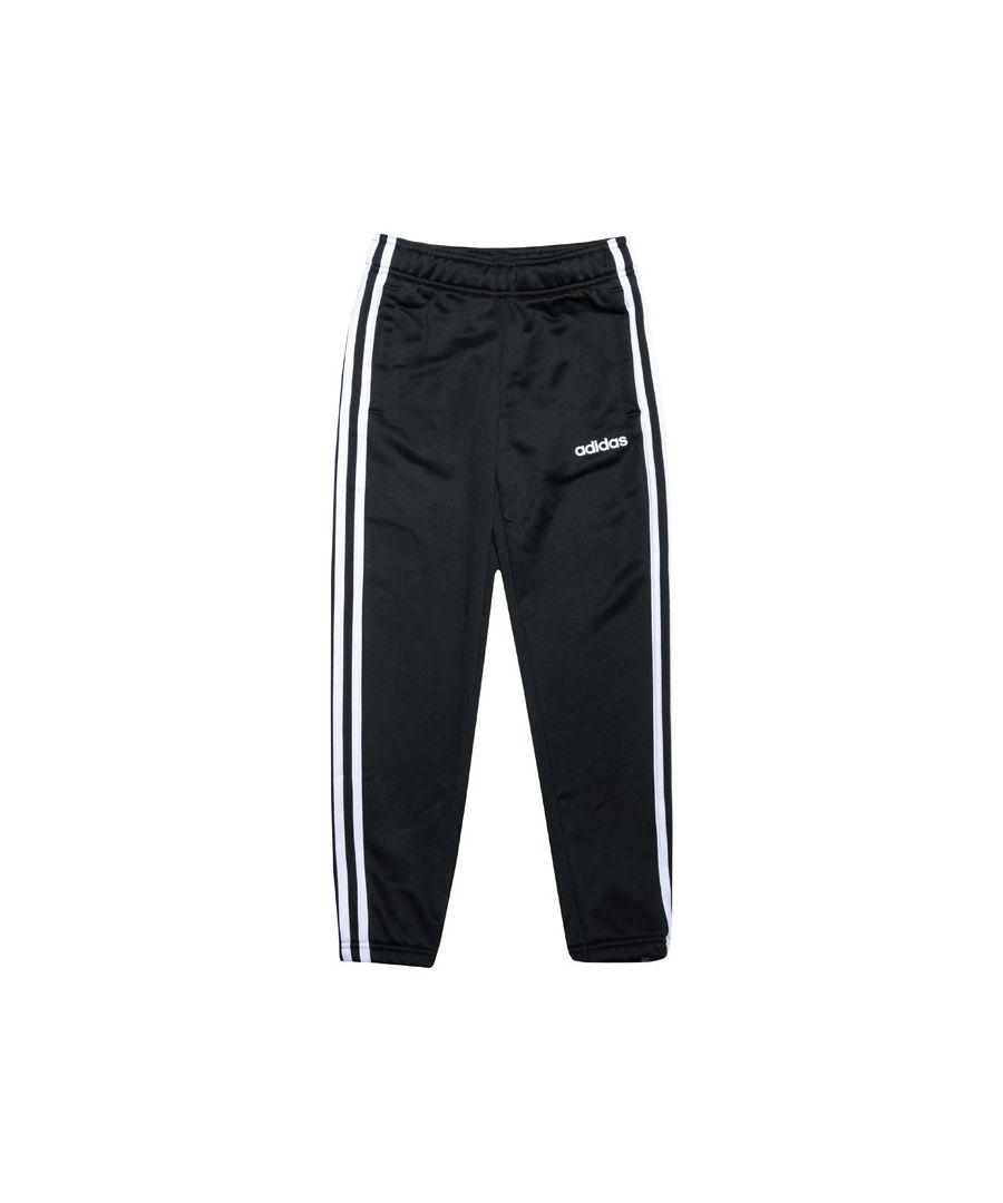 Image for Girl's adidas Junior Cardio Jog Pants in Black-White
