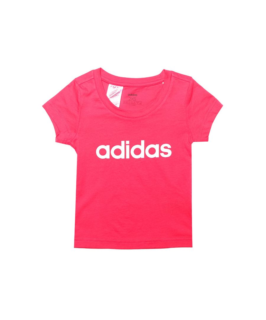 Image for Girl's adidas Junior Linear Essential T-Shirt in Pink