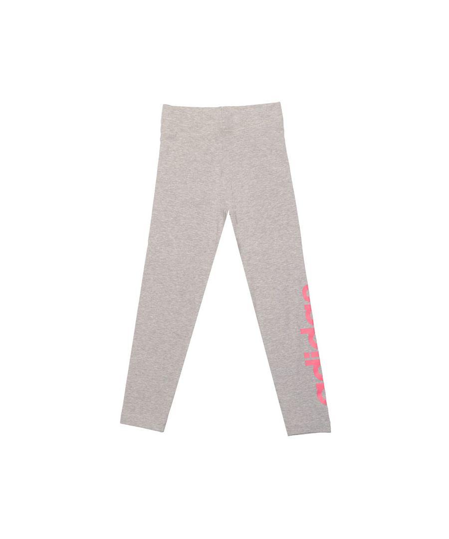 Image for Girl's adidas Infant Linear Leggings in Grey