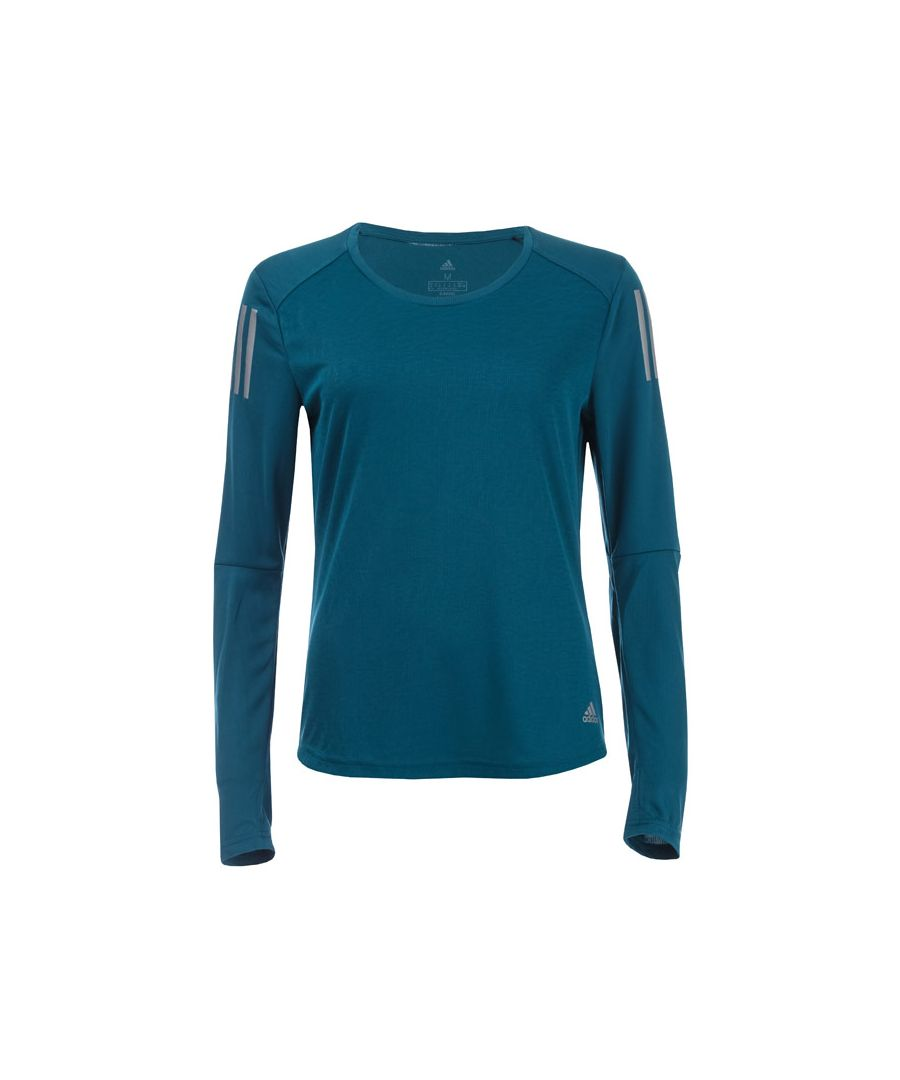 Image for Women's adidas Own The Run Long Sleeve T-Shirt in Blue