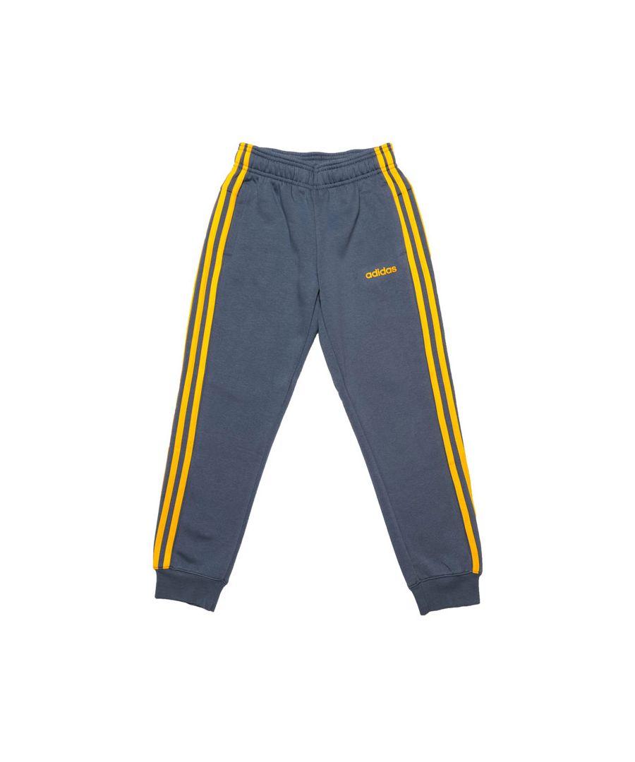 Image for Boy's adidas Junior Essentials 3-Stripes Jog Pants in Blue